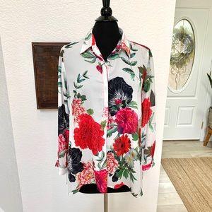 Lena Gabrielle Floral Long-Sleeve Blouse size S